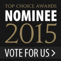 We Were Nominated for a Top Choice Award