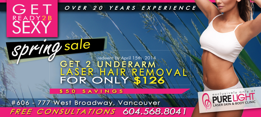 spring sale - laser hair removal